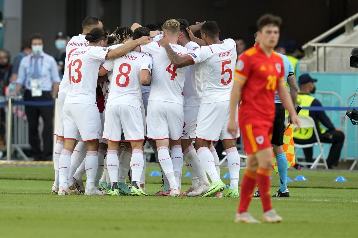 Euro2020: termina in pareggio Galles-Svizzera. L'Italia sorride, prima in solitaria