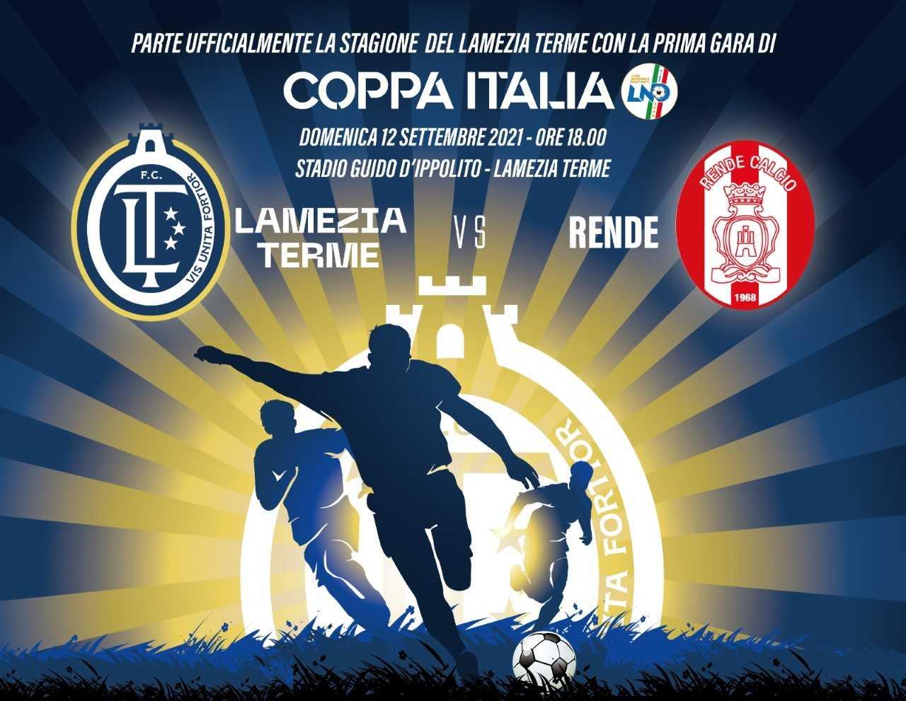 Serie D, Lamezia Terme e Rende: prima partita di Coppa Italia a favore della Caritas